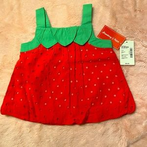 Baby girls 👧 Gymboree eyelet patch bubble top 🍓